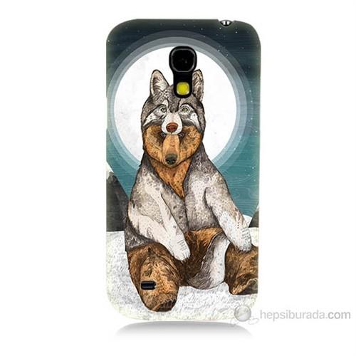 Teknomeg Samsung Galaxy S4 Mini Postlu Ayı Baskılı Silikon Kılıf