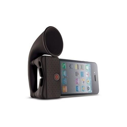 Microsonic Horn Stand iPhone 4/3G Taşınabilir Hoparlör Siyah - HRN110