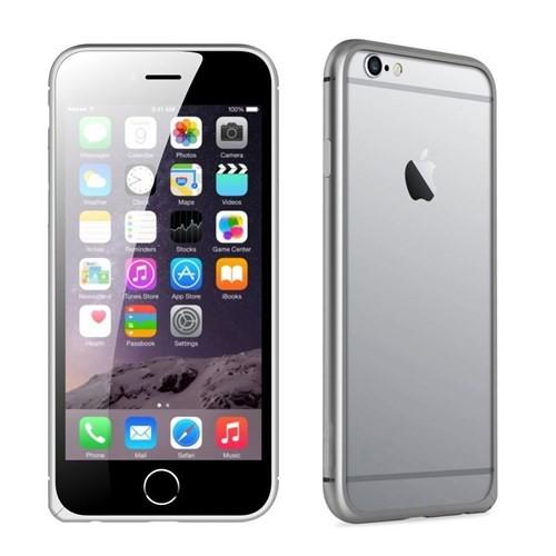 Teleplus İphone 6 Plus Çerçeve Kenarlık Metal Kılıf Sarı