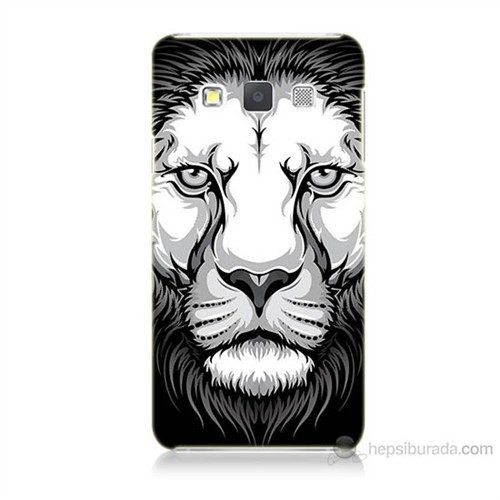 Teknomeg Samsung Galaxy A7 Kapak Kılıf Aslan Baskılı Silikon