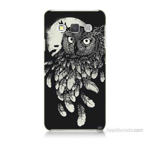 Teknomeg Samsung Galaxy A7 Kapak Kılıf Gece Kuşu Baskılı Silikon