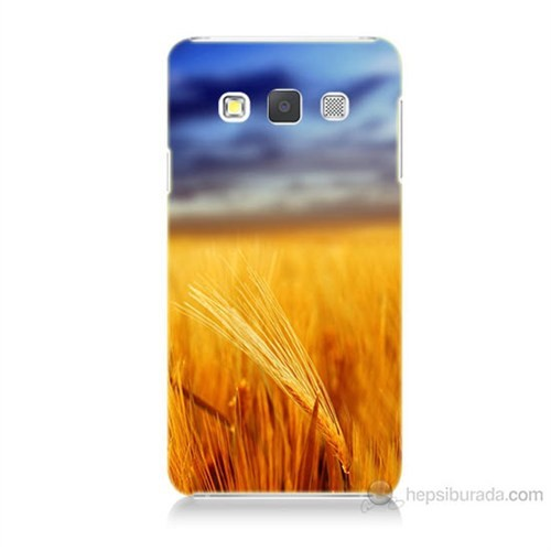 Teknomeg Samsung Galaxy A7 Kapak Kılıf Sarı Mavi Baskılı Silikon