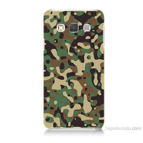 Teknomeg Samsung Galaxy A7 Kapak Kılıf Askeri Kamuflaj Baskılı Silikon
