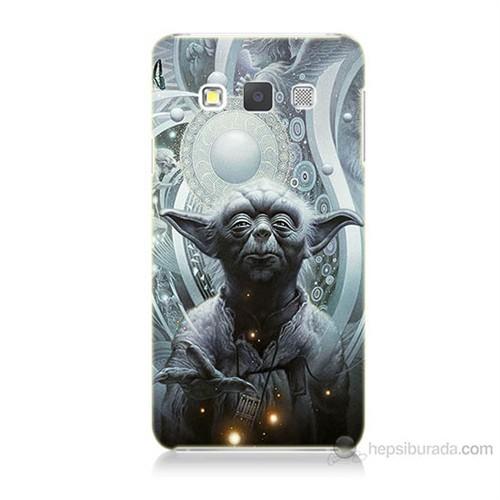 Teknomeg Samsung Galaxy A7 Kapak Kılıf Güç Uyanıyor Yoda Baskılı Silikon