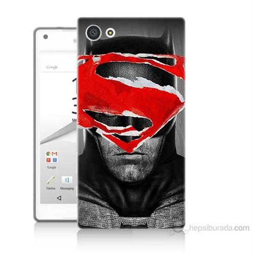 Teknomeg Sony Xperia Z5 Mini Batman Vs Superman Baskılı Silikon Kılıf