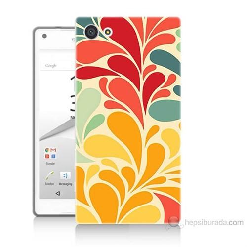 Teknomeg Sony Xperia Z5 Premium Çiçekler Baskılı Silikon Kılıf