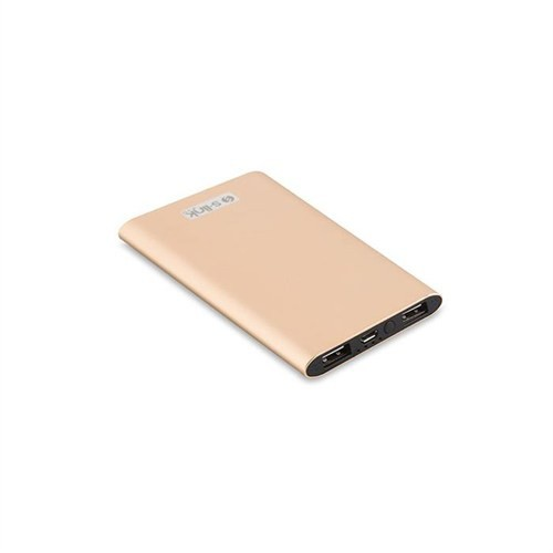 S-Link 4000Mah Slim Powerbank Gold 1-2A Alüminyum Ip-P22 Taşınabilir Pil Şarj Cihazı