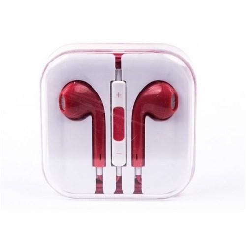 Cepium Apple iPhone 6 Plus/6/5/5s/5c/4/4s/3gs/3g Kulak İçi Kulaklık Kırmızı - TR- 48191