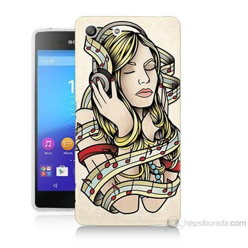 Teknomeg Sony Xperia M5 Müzik Aşkı Baskılı Silikon Kılıf