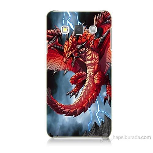 Teknomeg Samsung Galaxy A3 Kapak Kılıf Dragon Baskılı Silikon