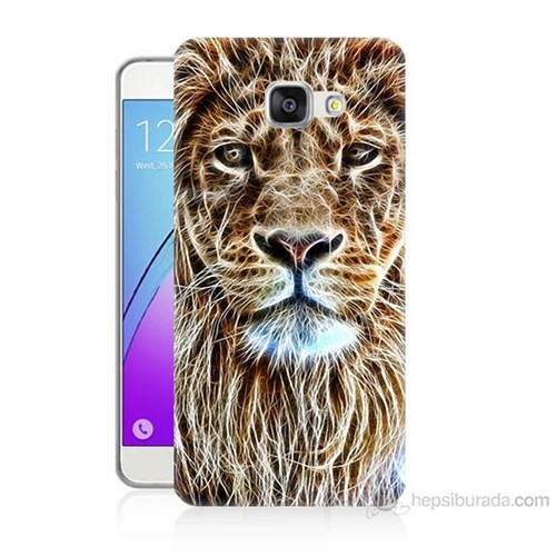 Teknomeg Samsung Galaxy A3 2016 Kapak Kılıf Aslan Yüzü Baskılı Silikon