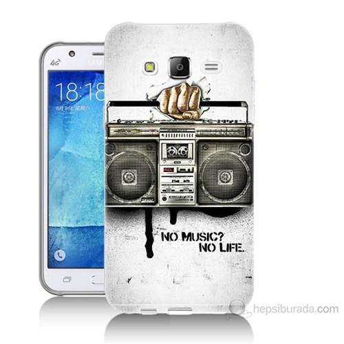 Teknomeg Samsung Galaxy J5 Kapak Kılıf Müzik Hayattır Baskılı Silikon