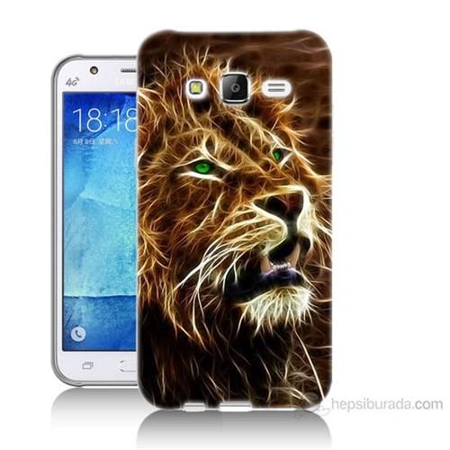Teknomeg Samsung Galaxy J5 Kapak Kılıf Aslan Baskılı Silikon