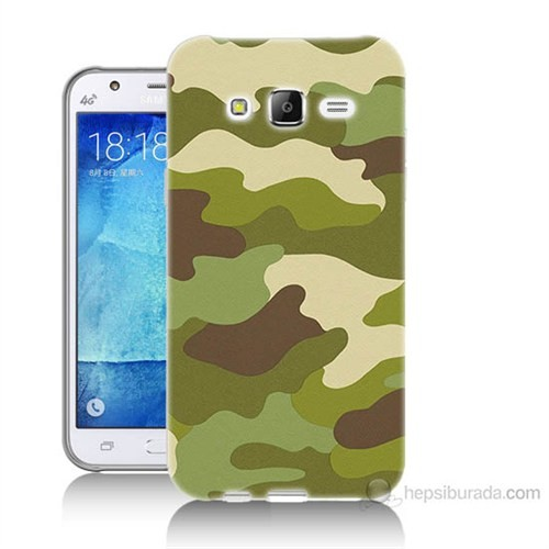 Teknomeg Samsung Galaxy J5 Kapak Kılıf Kamufulaj Baskılı Silikon