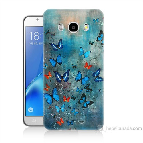 Teknomeg Samsung Galaxy J5 2016 Kapak Kılıf Kelebekler Baskılı Silikon