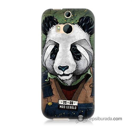 Teknomeg Htc One M8s Kapak Kılıf İşçi Panda Baskılı Silikon