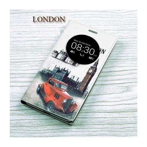 Teleplus Asus Zenfone 6 Pencereli Özel Desenli Kılıf London