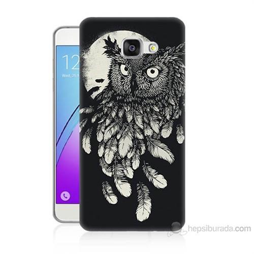 Teknomeg Samsung Galaxy A5 2016 Kapak Kılıf Gece Kuşu Baskılı Silikon