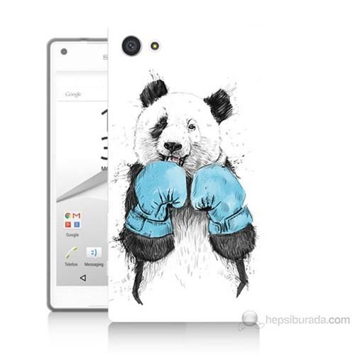 Teknomeg Sony Xperia Z5 Premium Boksör Panda Baskılı Silikon Kılıf