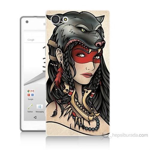 Teknomeg Sony Xperia Z5 Premium Pocahontas Baskılı Silikon Kılıf