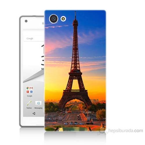 Teknomeg Sony Xperia Z5 Premium Eyfelde Gün Batımı Baskılı Silikon Kılıf
