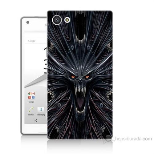 Teknomeg Sony Xperia Z5 Premium Korku Canavarı Baskılı Silikon Kılıf