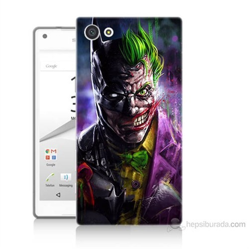 Teknomeg Sony Xperia Z5 Premium Batman Vs Joker Baskılı Silikon Kılıf