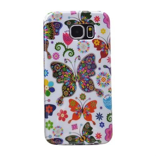 Teleplus Samsung Galaxy S6 Desenli Silikon Kılıf Kelebek