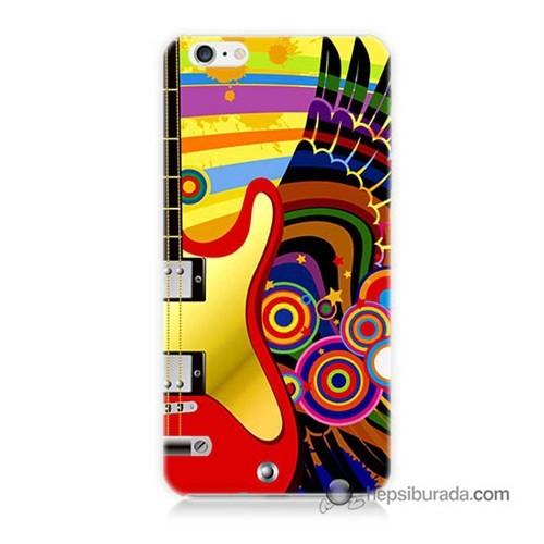 Teknomeg İphone 6S Kapak Kılıf Renkli Gitar Baskılı Silikon