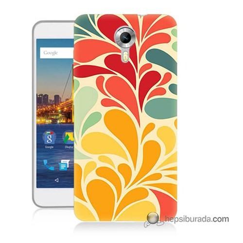 Teknomeg General Mobile 4G Android One Kapak Kılıf Çiçekler Baskılı Silikon
