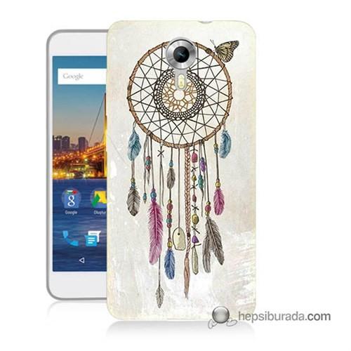 Teknomeg General Mobile 4G Android One Kapak Kılıf Dream Catcher Baskılı Silikon