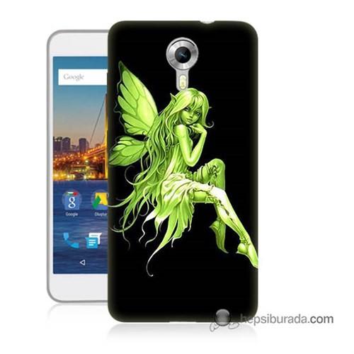 Teknomeg General Mobile 4G Android One Kapak Kılıf Peri Kızı Baskılı Silikon