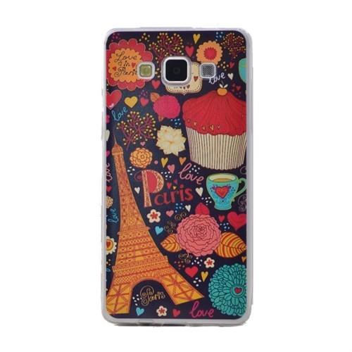 Teleplus Samsung Galaxy E5 Desenli Silikon Kılıf Paris