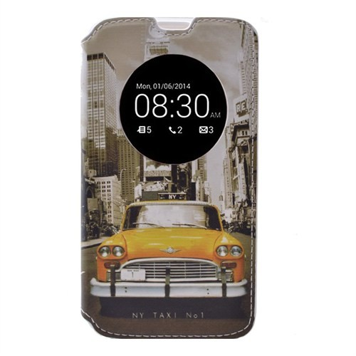 Teleplus Lg G4 Stylus Pencereli Desenli Kılıf Taksi