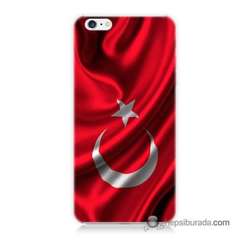 Teknomeg İphone 6 Plus Kapak Kılıf Türkiye Bayrağı Baskılı Silikon