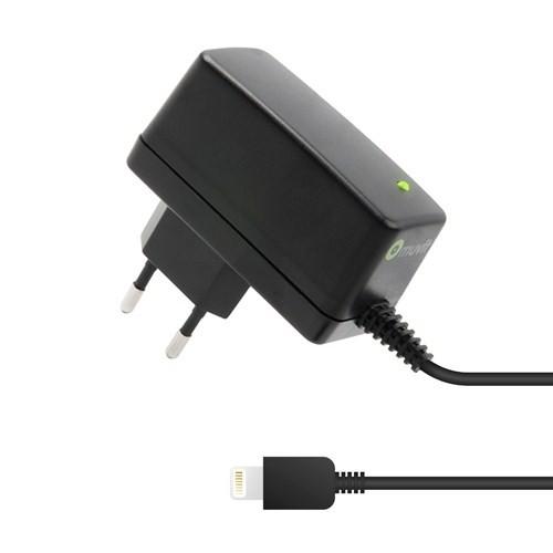 Muvit Travel Charger 2100 mA iPhone, iPod, iPad Priz Lightning Şarj Cihazı (Siyah)