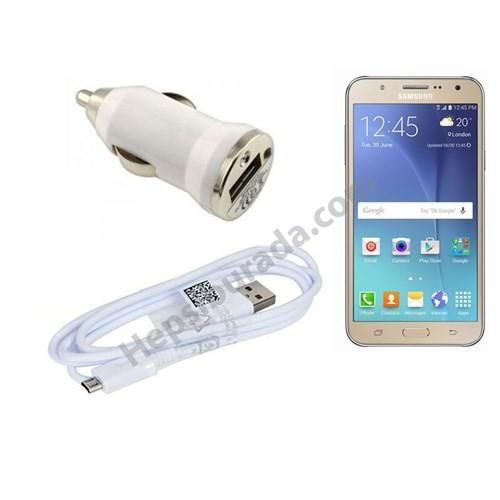 Fonemax Samsung Galaxy J7 Araç Şarj Cihazı+Micro Usb Kablo