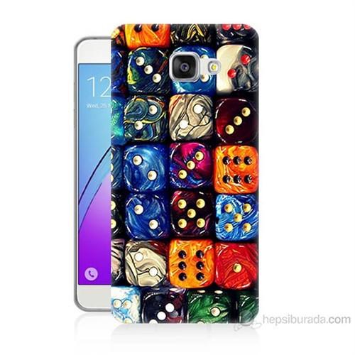 Teknomeg Samsung Galaxy A3 2016 Kapak Kılıf Zarlar Baskılı Silikon