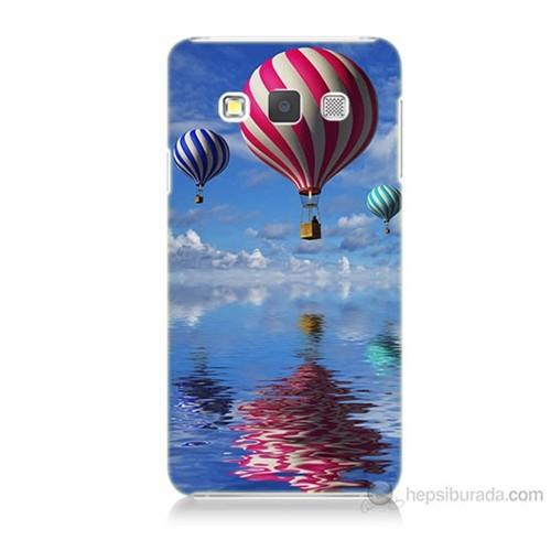 Teknomeg Samsung Galaxy A5 Kapak Kılıf Renkli Balonlar Baskılı Silikon