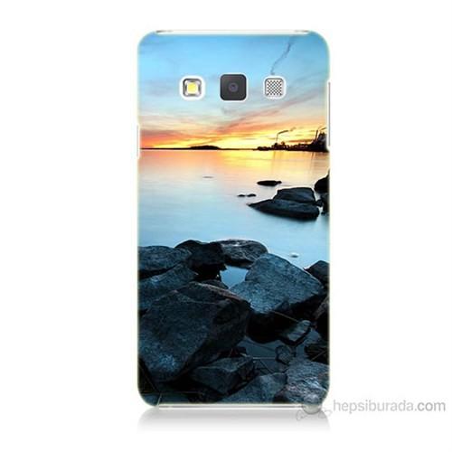 Teknomeg Samsung Galaxy A5 Kapak Kılıf Kayalık Baskılı Silikon