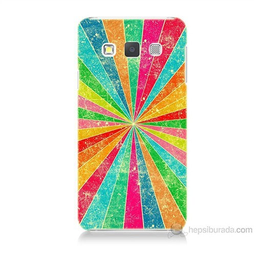 Teknomeg Samsung Galaxy A5 Kapak Kılıf Renk Efekti Baskılı Silikon