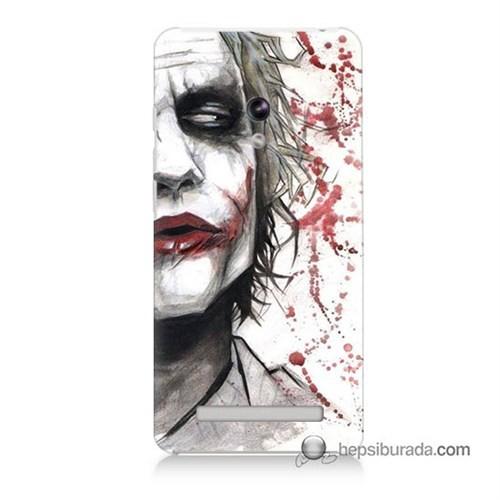 Teknomeg Asus Zenfone 6 Kapak Kılıf Kanlı Joker Baskılı Silikon