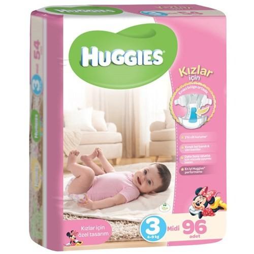 Huggies Kızım İçin Bebek Bezi Gulliver 3 Beden 96 Adet