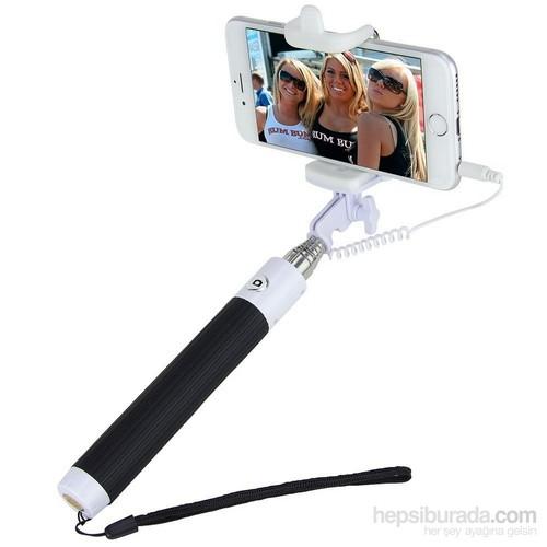 Apprise Kablolu Tak Çalıştır Selfie Çubuğu Monopod