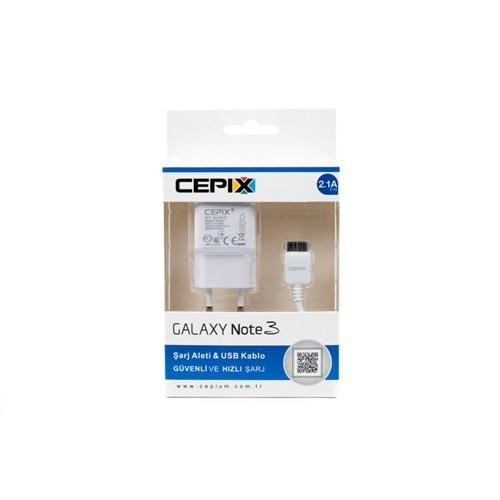 Cepix Galaxy S5/Note 3 - N9005/N9002/N9000 Şarj ve USB Kablo (2.1 Amper) - 11916
