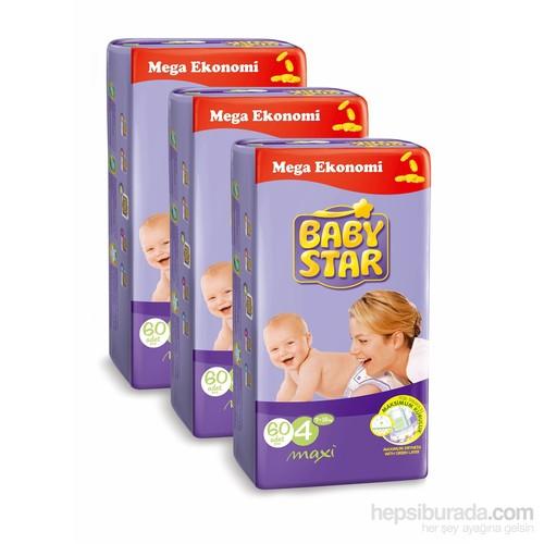Baby Star Bebek Bezi Jumbo 3'lü Paket 4 Beden 180 Adet