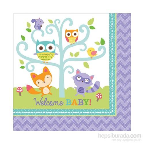 KullanAtMarket Hoşgeldin Bebeğim Peçete 16 Adet