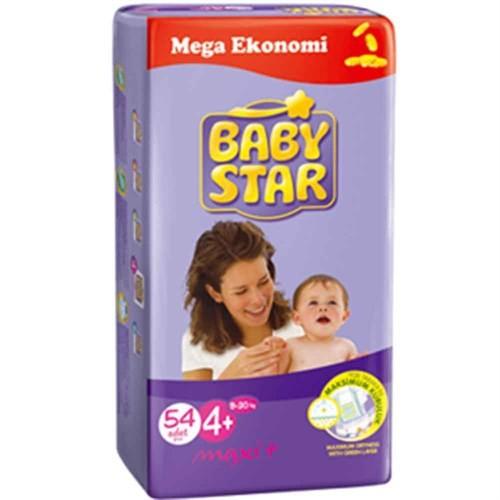 Baby Star Bebek Bezi Jumbo 4+ Beden 54 Adet