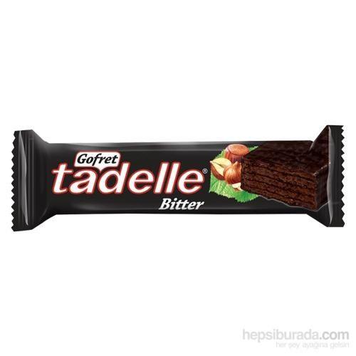 Tadelle Bitter Çikolata Kaplı Kakaolu Gofret 35 Gr