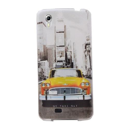 Android One 4G Desenli Silikon Kılıf Taksi